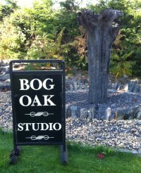 Bog Oak Studio sign